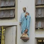 Figures on the wall at Quiapo Church
