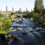 River by the hotel Deschutes