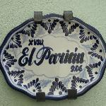 Talavera pottery sign for my room