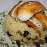 pan seared fluke w/moroccan couscous