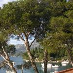 view across bay from hotel cavtat room balcony