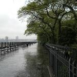 View of the Promenade on rainy day