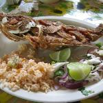 Fried Snapper at the local fish restaurant, not to be missed