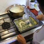 Preparing Lasagna in Simonetta's kitchen