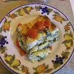 Florentine Lasagna prepared and baked in Simonett'as cooking class