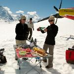 Lunch on a glacier