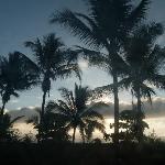 Beautiful sunrise at Iguana Lodge