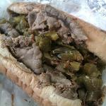 Italian beef. with  Hot or Sweet peppers.