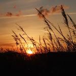 sunset black rock
