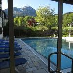 Heated outdoor pool - great view!