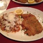 Veal escalope and spaghetti