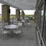 Outdoor terrace off breakfast area