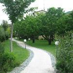Walkway to B & B