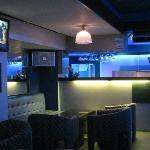Mezzanine bar in hotel