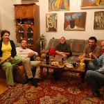 With the guests