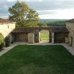 the inner courtyard