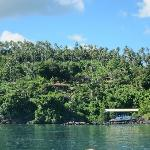 Lumba Lumba resort set amongst nature - view from our boat