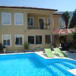 Mediteranian style house with swimming pool.