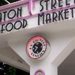 Closeup of the Eaton Street Seafood Market Sign 5/3/2012