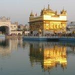 Sonnenuntergang beim Goldenen Tempel