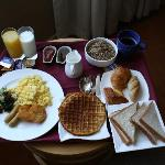 really good breakfast in the room