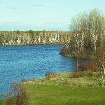 vue sur le lac depuis la maison