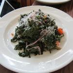 Kale Salad - carrots, pine nuts, capers, Fiscalini cheese
