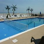 View from first-floor poolside-oceanfront unit