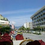 View from terrace  down the road towards Marmaris