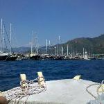 Marmaris Harbour from the water taxi