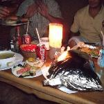 Bedouin dinner before the grand unwrapping of foil