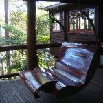 Swing seat on deck of 'The Nest'