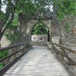 bridge over inner moat (it's a double moated castle)