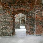 Row of doors in keep