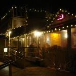 restaurant entrance at night
