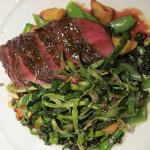 Flat iron steak with veggies