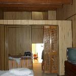 La habitación...el separador del que les hablé.