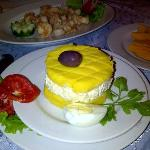 Causa Rellena with a side of Fried Calamari
