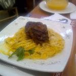 Steak Spaguetti Peruvian Style