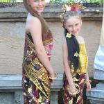 Hired Traditional Balinise costumes for our girls.  The had fun with the hair extensions and mak
