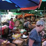 Our trip to the market for cooking class.