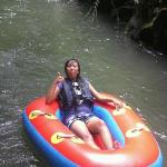 at lazy river,, after  7 rapids through