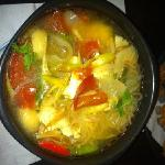 Tom yum with noodles frm Coco's kitchen
