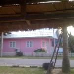 my little pink beach bungalow.... taken whilst sitting on the beach