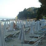 Koukounaries lovely beach-Umbrellas closed