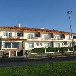 L'hôtel Uhaïnak à Hendaye, façade sur mer