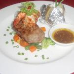 steak n prawns