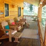 Enjoy the view from your cabin porch