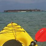 Fort Jefferson on the way back from Loggerhead Key, Kayak Kings Key West
