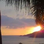puesta de sol desde el hotel